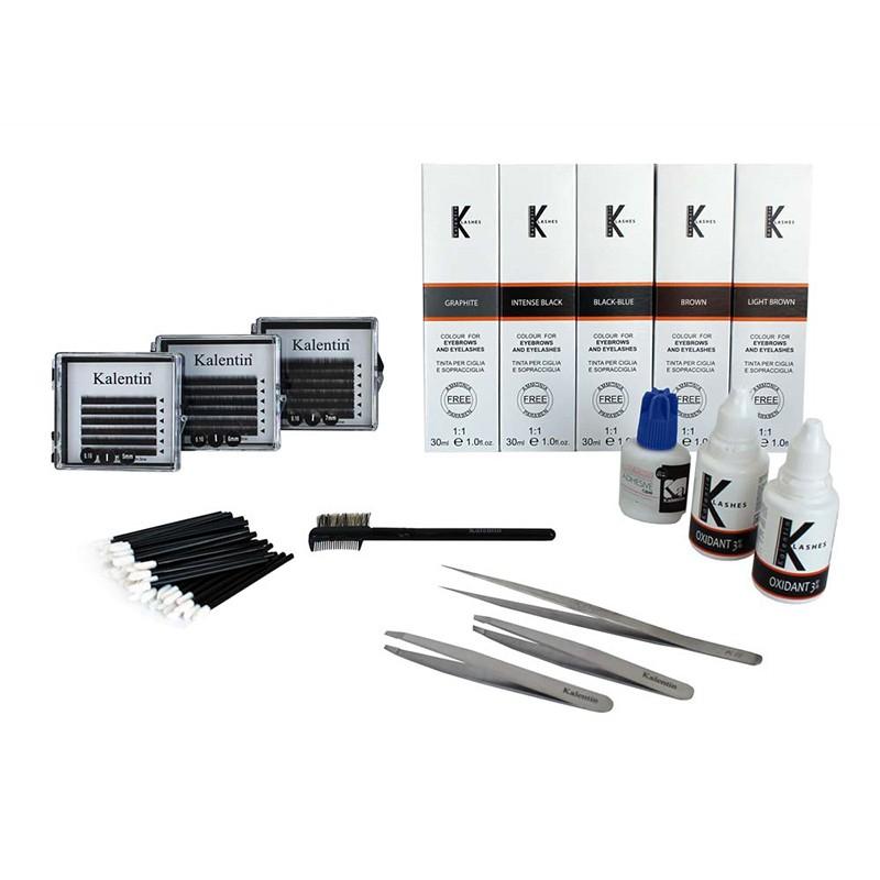 kit extension sopracciglia e colorazione ciglia