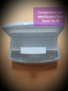 Contenitore per sterilizzare ferri plastica