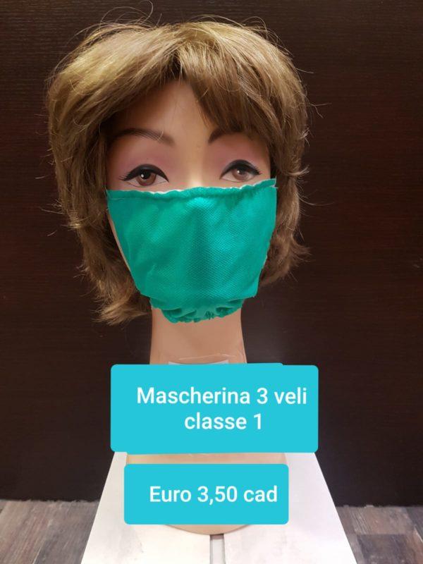 Mascherina 3 veli classe 1