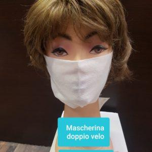 Mascherina doppio velo
