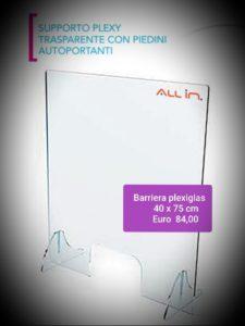 barriera plexiglas