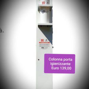 colonna porta igienizzante